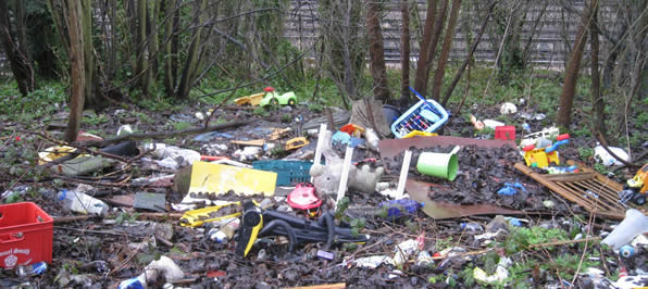 Tandridge Fly Tipping Cleanup